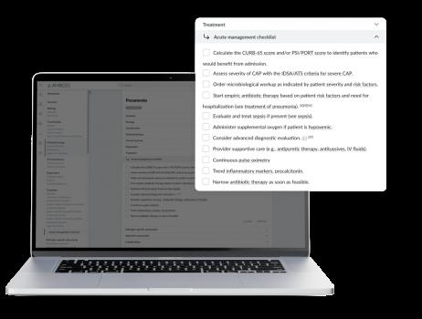 AMBOSS Acute Management Checklist